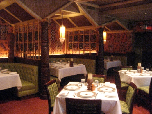 The dining room of Trader Vic's