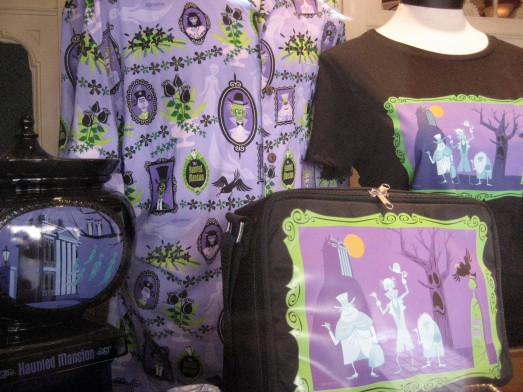 Shag's Haunted Mansion cookie jar urn, Aloha shirt, tee shirt and lunch bag