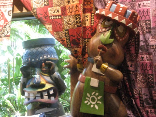 Ugly tikis at the Polynesian Resort