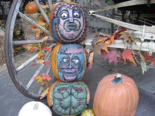 Enchanted Tiki Room pumpkins