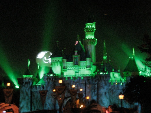 Halloween fireworks over the castle