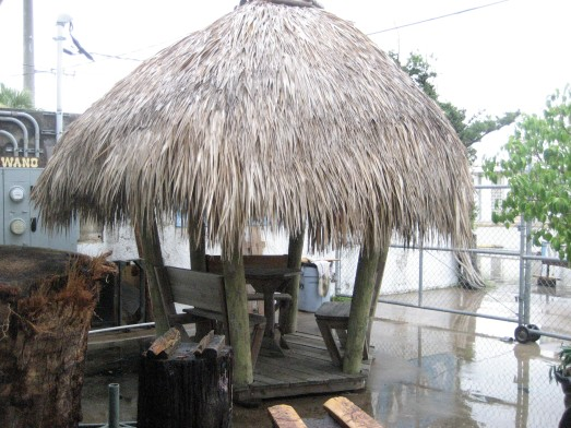 Thatched tiki hut