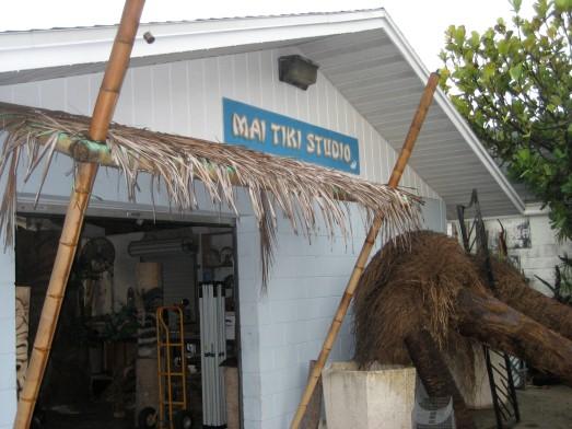 Palms outside the Mai Tiki Studio