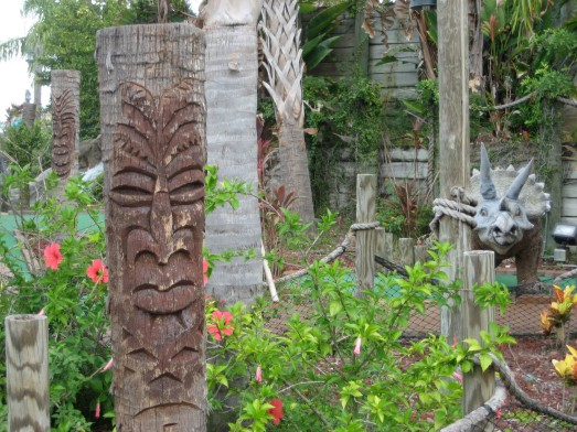 Tikis and a triceratops