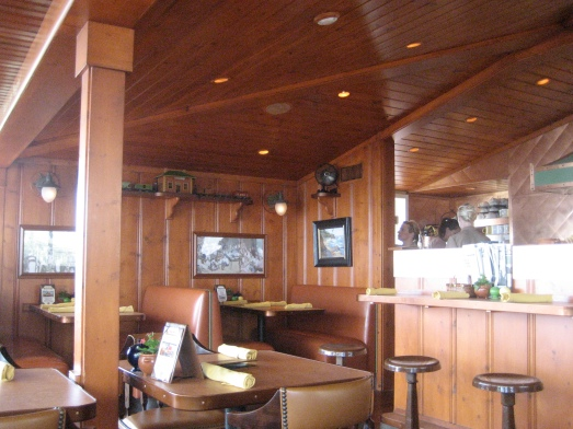 Dining room of the Beachcomber Cafe in Orange County