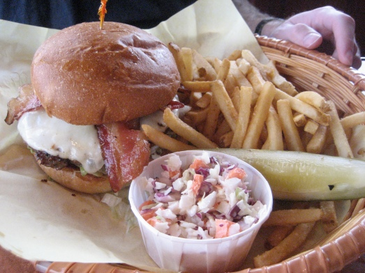 Bacon Kobe burger at The Beachcomber Cafe