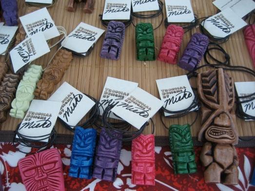 Tiki pendants from Tropical Designs by Mieko