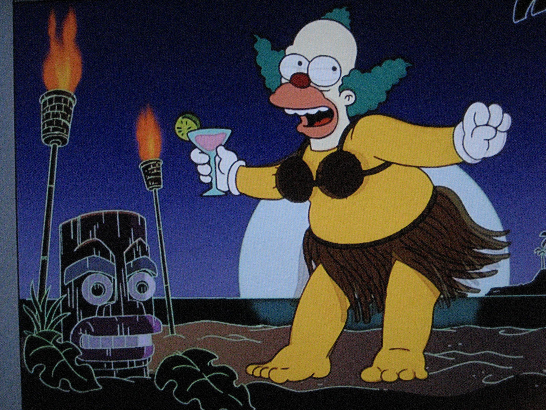 Tiki on the simpsons the tiki chick - Clown simpson ...