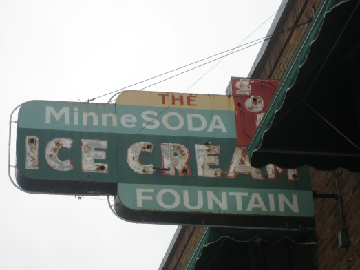 Minnesoda Ice Cream Fountain vintage sign