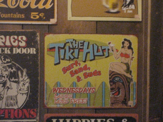 The Tiki Hut sign