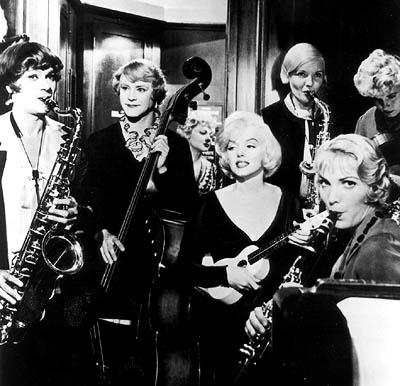 Marilyn Monroe playing ukulele in Some Like it Hot