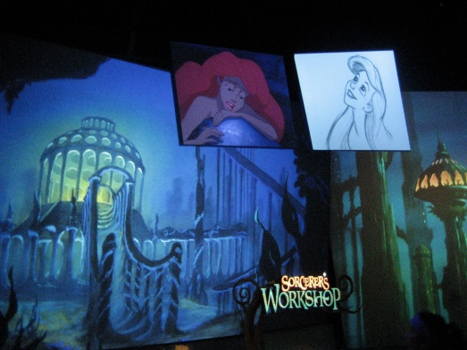 Little Mermaid on the screen in the Animation Academy